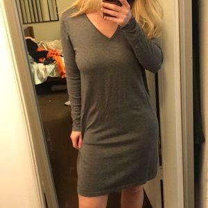 Midi gray dress from Mango size S